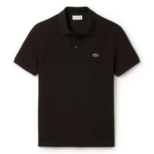 ביגוד לקוסט לגברים LACOSTE Slim Fit Petit Pique - שחור