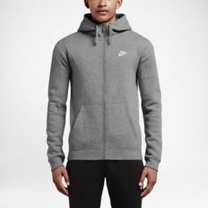 בגדי חורף נייק לגברים Nike Nsw Hoodie FZ Flc Club - אפור