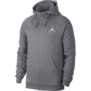 בגדי חורף נייק לגברים Nike Jumpman Fleece Fullzip - אפור