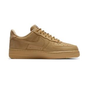 נעליים נייק לגברים Nike Air Force 1 07 WB Flax - חרדל