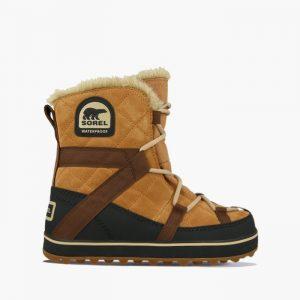 נעליים סורל לנשים Sorel Glacy Explorer Shortie - קאמל