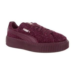 נעליים פומה לנשים PUMA Suede Platform Elemental - בורדו