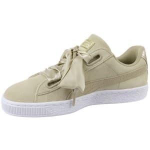 נעליים פומה לנשים PUMA Basket Heart Metallic Safari - בז'