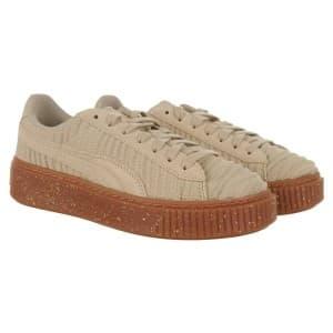נעליים פומה לנשים PUMA Basket Platform OW - בז'