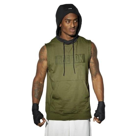 ביגוד ריבוק לגברים Reebok Combat Tlaf Slvs - ירוק כהה