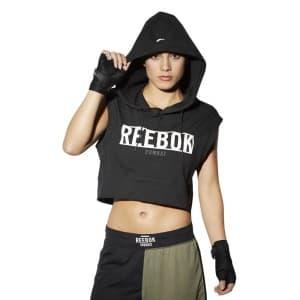 ביגוד ריבוק לנשים Reebok Tlaf Sleeveless Hoody - שחור