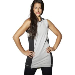 ביגוד ריבוק לנשים Reebok DC Tee Dress - שחור/אפור