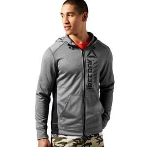 בגדי חורף ריבוק לגברים Reebok Wor Warm Poly Fleece FZ - אפור