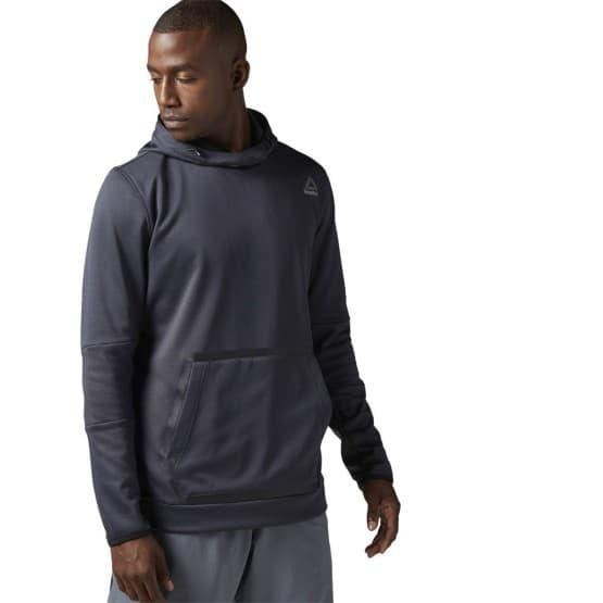 ביגוד ריבוק לגברים Reebok Brushed Fleece - אפור כהה