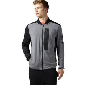 בגדי חורף ריבוק לגברים Reebok Graphic - אפור/שחור
