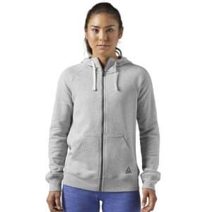 בגדי חורף ריבוק לנשים Reebok EL FL Full Zip - אפור