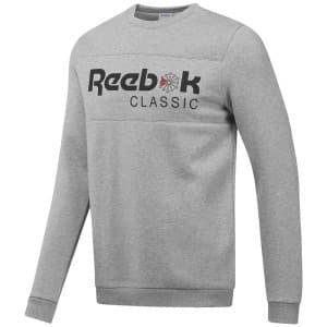 ביגוד ריבוק לגברים Reebok Classics Iconic Crew Neck - אפור בהיר