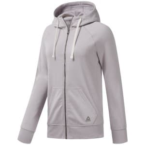 בגדי חורף ריבוק לנשים Reebok Elements Fleece Full Zip - סגול בהיר