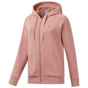 בגדי חורף ריבוק לנשים Reebok F Fleece FZ - ורוד