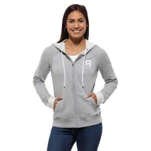 בגדי חורף ריבוק לנשים Reebok Elements Big Logo - אפור בהיר