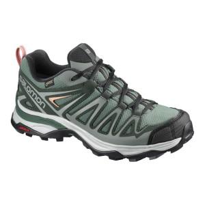 נעליים סלומון לנשים Salomon X Ultra 3 Prime Goretex - ירוק