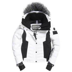 בגדי חורף סופרדרי לנשים Superdry Luxe Snow Puffer - לבן