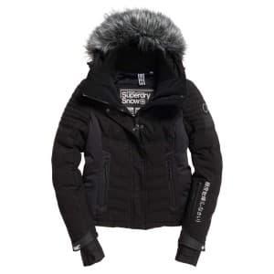 בגדי חורף סופרדרי לנשים Superdry Luxe Snow Puffer - שחור