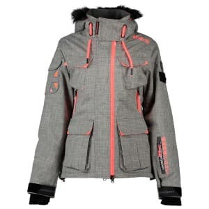 בגדי חורף סופרדרי לנשים Superdry Ultimate Snow Service Jacket - אפור/ורוד