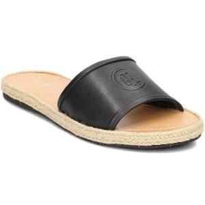 כפכפים טומי הילפיגר לנשים Tommy Hilfiger Leather Flat Mules Black - שחור