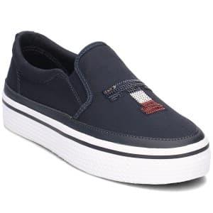 נעליים טומי הילפיגר לנשים Tommy Hilfiger Sequins Platform Sneakers Midnight - שחור
