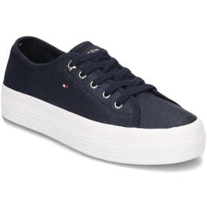 נעליים טומי הילפיגר לנשים Tommy Hilfiger Metallic Flatform - כחול
