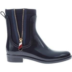 מגפיים טומי הילפיגר לנשים Tommy Hilfiger Corporate Belt Rain - כחול