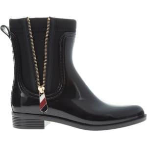 מגפיים טומי הילפיגר לנשים Tommy Hilfiger Corporate Belt Rain - שחור