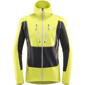 בגדי חורף הגלופס לגברים Haglofs Serac Hood - אפור/צהוב