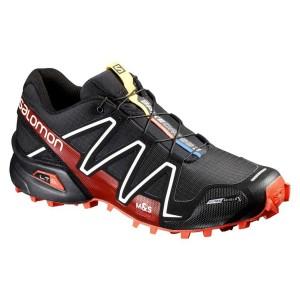 נעליים סלומון לגברים Salomon Spikecross 3 CS - שחור/אדום