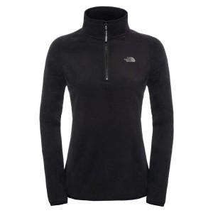בגדי חורף דה נורת פיס לנשים The North Face 100 Glacier 1/4 Zip - שחור