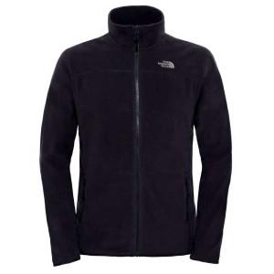 בגדי חורף דה נורת פיס לגברים The North Face 100 Glacier Full Zip - שחור