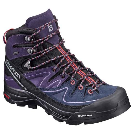 נעלי טיולים סלומון לנשים Salomon X Alp Mid Ltr Goretex - סגול/כחול
