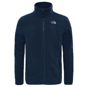 בגדי חורף דה נורת פיס לגברים The North Face 100 Glacier Full Zip - כחול