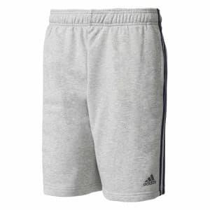 ביגוד אדידס לגברים Adidas Essentials 3 Stripes French Terry Short Pants - אפור