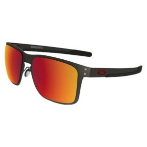אביזרים Oakley לגברים Oakley Holbrook Metal Polarized - שחור/אדום