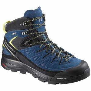 נעלי טיולים סלומון לגברים Salomon X Alp Mid LTR Goretex - כחול/שחור