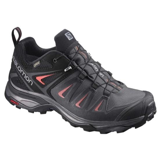 נעלי טיולים סלומון לנשים Salomon X Ultra 3 Goretex - שחור