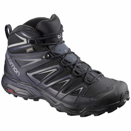נעלי טיולים סלומון לגברים Salomon X Ultra 3 Mid Goretex - שחור
