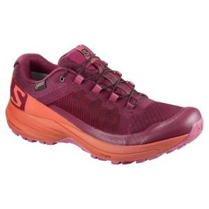 נעליים סלומון לנשים Salomon XA Elevate Goretex - בורדו/כתום
