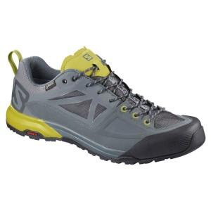 נעליים סלומון לגברים Salomon X Alp Spry Goretex - אפור/צהוב