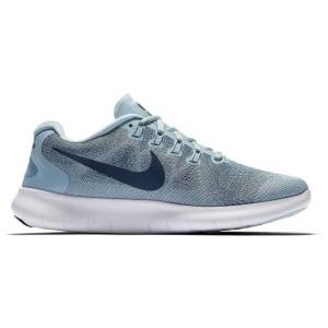 נעליים נייק לנשים Nike Nike Free RN 2017 - שחור/תכלת