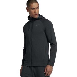 בגדי חורף נייק לגברים Nike Dry Hyperdry Full Zip Hooded - אפור כהה