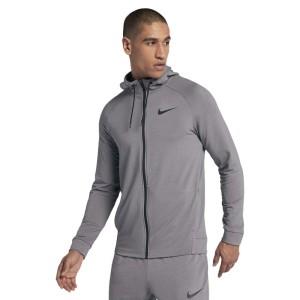 בגדי חורף נייק לגברים Nike Dry Hyperdry Full Zip Hooded - אפור