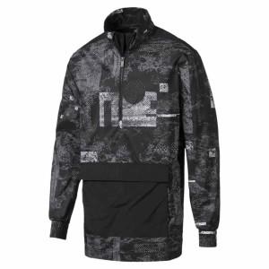 בגדי חורף פומה לגברים PUMA Energy Windbreaker - שחור/אפור