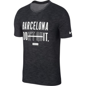 ביגוד נייק לגברים Nike Dry DFC Jaquard Barcelona Slub - אפור כהה