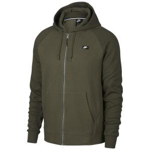 בגדי חורף נייק לגברים Nike Sportswear Optic Full Zip Hooded - ירוק