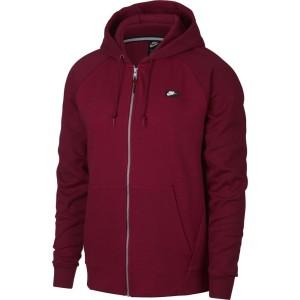 בגדי חורף נייק לגברים Nike Sportswear Optic Full Zip Hooded - בורדו