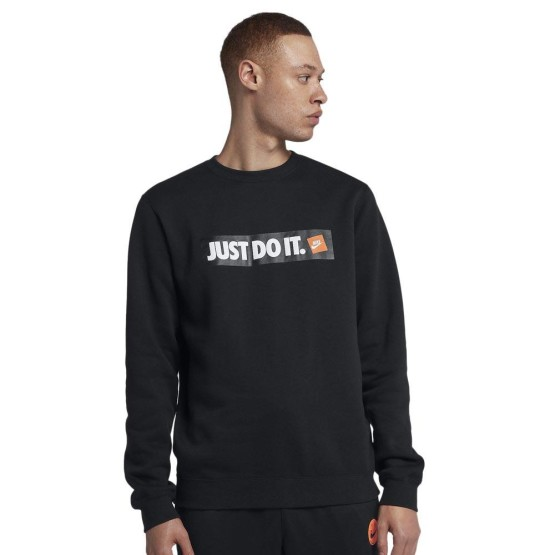 ביגוד נייק לגברים Nike Sportswear HBR Crew - שחור