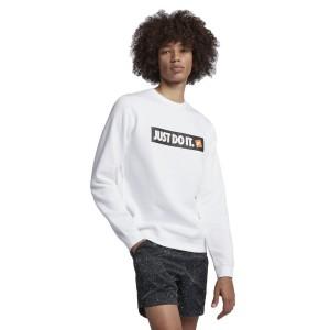 ביגוד נייק לגברים Nike Sportswear HBR Crew - לבן